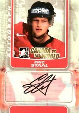 11-12 itg game canada vs world eric staal team autograph auto