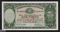 Australia R-30. (1942) One Pound - Armitage/McFarlane. King George VI..  aUNC