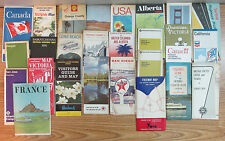 Vintage Road Highway Maps Guides Misc Maps Lot Of 27.