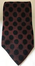 Vintage Bill Blass Men Neck Tie Burgundy Black Polka Dots100% Silk Canada Made