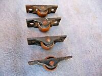 Vintage Set Of 4 Small Iron Cabinet/Trolly Weels Castors Unused Very old Stock