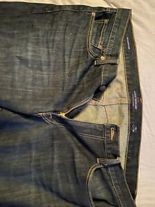 Lucky Brand 181 Relaxed Fit Stretch Mens Blue Jeans 40X30 Lucky You! Lucky Me!
