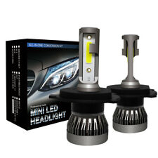 2 x H4 LED Headlight Conversion Kit COB Hi/Lo Beam Bulb 360° 120W 26000LM 6000K