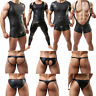 Men's Black Tank Top T-shirt Vest Briefs Jockstrap Thong Boxer Shorts Underwear