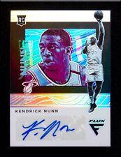 Kendrick Nunn AUTO 2019-20 Panini Chronicles FLUX Prizm Autograph Miami Heat RC