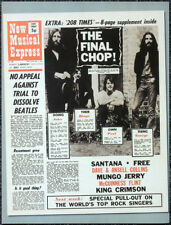 THE BEATLES POSTER PAGE . NME 1 MAY 1971 FRONT COVER - THE FINAL CHOP! . O8