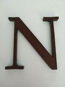 """Pottery Barn Kids Wood Letter """"N"""" 8""""  Espresso No cracks or repairs"""