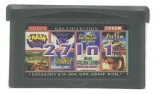 27 in 1 Multicart GBA Game Boy Advance w/Case Crash Spyro Double Dragon Mario