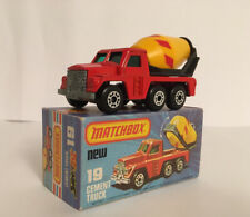 VINTAGE MATCHBOX SUPERFAST NO.19 CEMENT TRUCK MINT BOXED