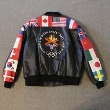Salt Lake 2002 Olympic Leather Jacket Mens 2XL XXL Winter Games