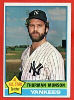 1976 Topps #650 Thurman Munson EX-EXMINT WRINKLE New York Yankees FREE SHIPPING