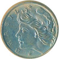 COIN / BRAZIL / 10 CENTAVOS 1967 UNC / LUSTRE #WT5043