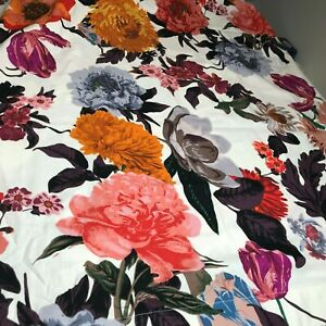 Anthropologie Agneta Cotton Shower Curtain Floral Flowers Pink New NWT