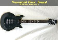 Hamer Archtop Double Cutaway Electric Guitar – Trans Black (Shop Demo as new)