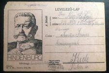 1918 KUK Feldpost Hungary In Italy Military Postcard Cover WW1 To Kiole
