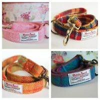 Handmade Harris Tweed Dog Leads Leashes Mixed Colours For Dogs and Puppies