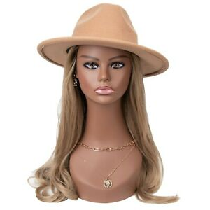"""18"""" Realistic Mannequin Wig Head PVC Manikin Stand for Display Hair Mask PMH7645"""