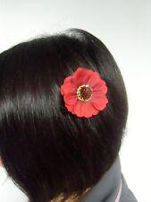 Petite fleur coquelicot rouge pince clip à cheveux rétro pinup coiffure original