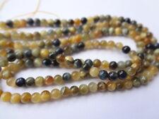 AAA Grade 4mm Round Natural Gold Blue Tiger Eye Gemstone Beads, Half Strand,45pc