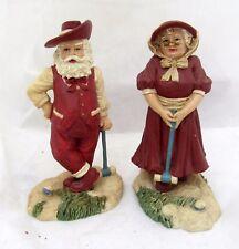 House of LLOYD Croquet Sports Santa & Mrs. Claus Christmas Figure Figurine Set