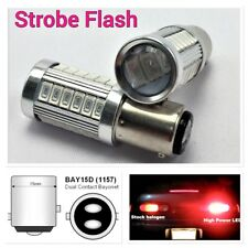 Red Strobe Brake Stop Tail Light 1157 2057 3496 BAY15D P21/5W 33 LED Bulb B1 #1