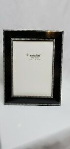 NATALINI WOOD PICTURE FRAME, Brand New, black white 5x7 Made in Italy.