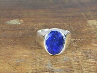 AA++ Natural Blue Sapphire Faceted 925 Solid Sterling silver ring, Gents Ring,