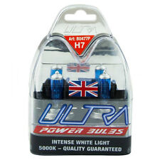 2 H7 ULTRA POWER BRIGHT 5000K XENON GAS WHITE CAR FRONT HEADLIGHT HEADLAMP BULBS