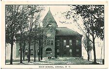 High School in Angola NY Postcard 1907