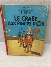 COLLECTION TINTIN HERGE TINTIN LE CRABE AUX PINCES D'OR B22 BIS 1957