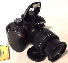 Nikon D3400 DSLR Camera, 24.2 MP; AF-P DX 18-55mm VR Lens (Black), New Open Box