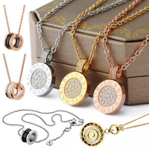 Womens Ladies Rose Gold/Gold/Silver Necklace Sparkling Grace - Her Gifts B.Zero1