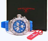 Swiss Legend 10535-03 Women's Trimix Diver Chronograph Watch Blue New in Box!