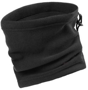 Mens Womens Thermal Fleece Snood Neck Warmer Tube Cycling Motorbike Mask Black
