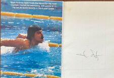 Mark Spitz Signed Card usa 12th Maccabiah team july 17 1985