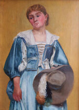 RALPH TODD (1856-1932) NEWLYN SCHOOL, Girl in Theatrical Costume, Oil on Canvas