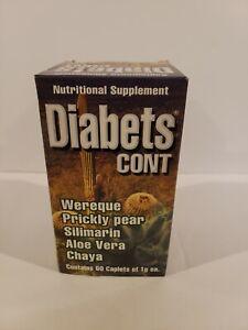 Diabetes Cont /Auxiliar Contra El Diabetes  Supplemento Herbolario(Wereke,Nopal)