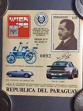 1975 Paraguay Ferdinand Porsche Birth Century Stamp RARE!! Awesome L@@K