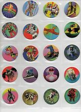 40 POWER RANGERS Power Caps Tazos Pogs Complete set Toys Collection + SLAMMERS