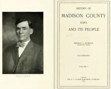 1915 MADISON County Iowa IA, History and Genealogy Ancestry Family Tree DVD B38