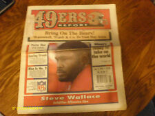 San Francisco 49ers Report Magazine January 1995 Steve Wallace