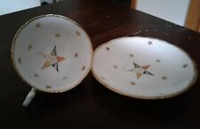 OES Royal Stafford Cup And Saucer White/Gold Trim/Stars - Bone China