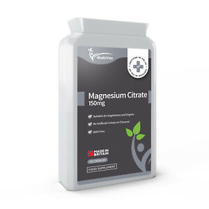 Magnesium Citrate 120 x 500mg Capsules Laxative Fatigue Sleep PMS Immune Support