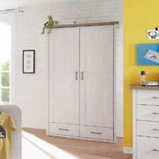 Kleiderschrank Luca Schrank für Babyzimmer in Pinie weiß und Trüffel 106 cm