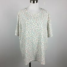 Sag Harbor Woman 3X Knit Top Shirt Floral Short Sleeve Scoop Neck Stretch