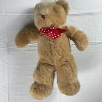 "International Silver Plush Bear VTG 1996 Stuffed 16"" Large Teddy Red Hearts Toy"