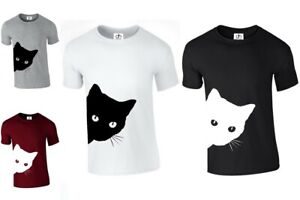 Side Cat Neck Not Today Crazy Cat Kitty Top Sleepy Lazy (SIDE.CAT, T-SHIRT )