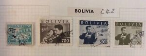 Four Stamps From BOLIVIA (C42)