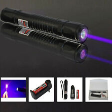 Powerful Purple Laser Pointer Pen 405nm Burning Lazer Light Beam +18650+ Charger