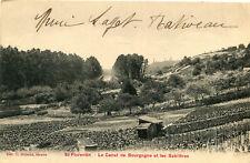 Carte SAINT FLORENTIN Le Canal de Bourgogne et les Sablières